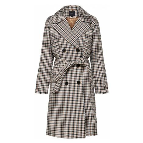 SELECTED FEMME Płaszcz przejściowy jasny beż / niebieska noc / biały