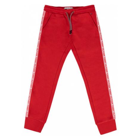 TOMMY HILFIGER Spodnie dresowe KG0KG04535 D Czerwony Regular Fit