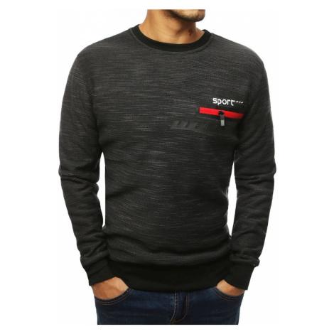 Bluza męska bez kaptura antracytowa BX4100 DStreet