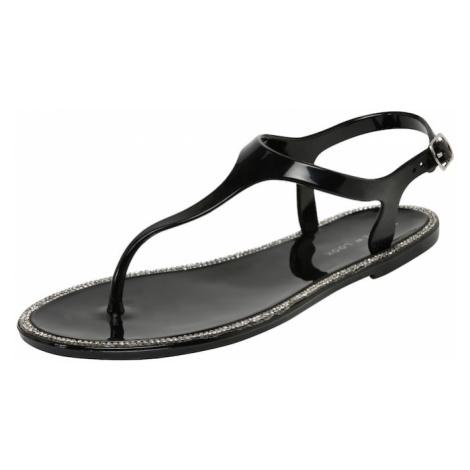 NEW LOOK Sandały z rzemykami czarny