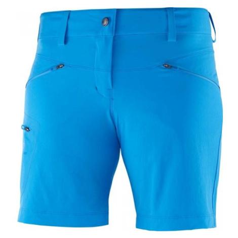 Salomon WAYFARER SHORT W niebieski 38 - Spodenki turystyczne damskie