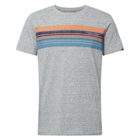 Ragwear Koszulka 'Hake' szary / jasnopomarańczowy / podpalany niebieski / ciemny niebieski