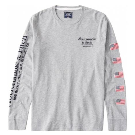 Abercrombie & Fitch Koszulka czarny / czerwony / szary