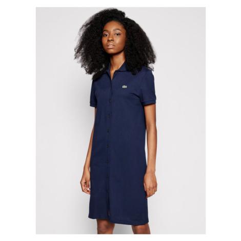 Lacoste Sukienka codzienna EF5468 Granatowy Regular Fit