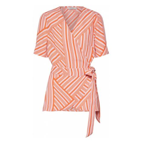 SOAKED IN LUXURY Bluzka pomarańczowy / biały