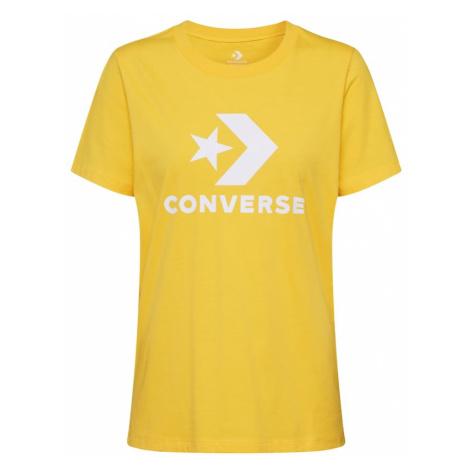 CONVERSE Koszulka 'Scripted Star Chevron Crew ' żółty