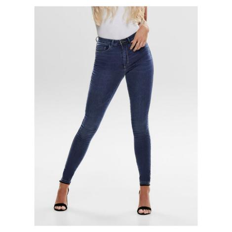 Niebieskie jeansy skinny fit z wysokim stanem ONLY Royal