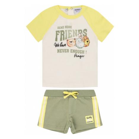 Primigi Komplet t-shirt i spodenki Eco Warrior 45196141 Kolorowy Regular Fit