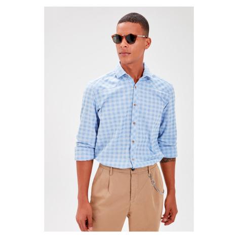 Trendyol Saks Men's Plaid Western Slim Fit Shirt