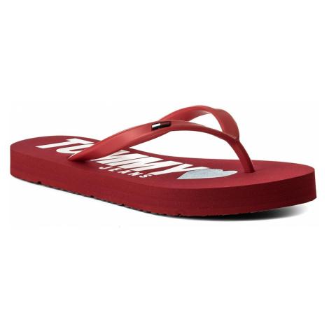 Japonki TOMMY JEANS - Love Tj Beach Sandal EN0EN00316 Tango Red 611 Tommy Hilfiger