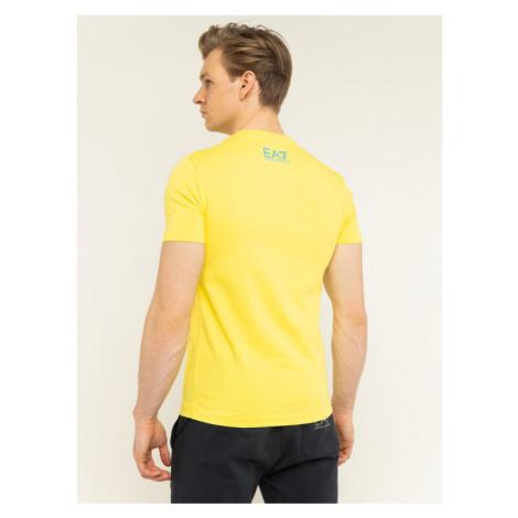 EA7 Emporio Armani T-Shirt 3HPT49 PJQ9Z 1632 Żółty Regular Fit