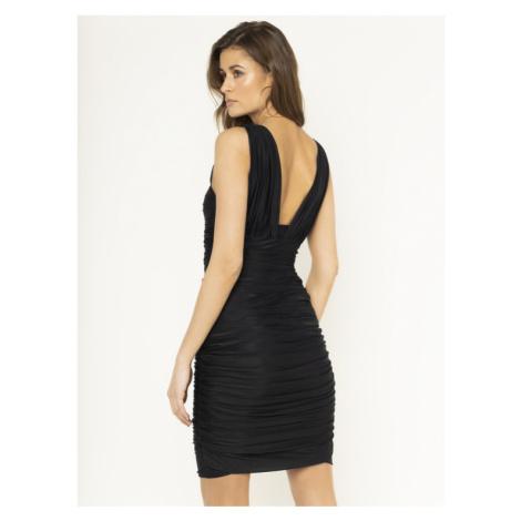 Pinko Sukienka koktajlowa Daltanius 20201 PBK2 1B14MF Y673 Czarny Slim Fit