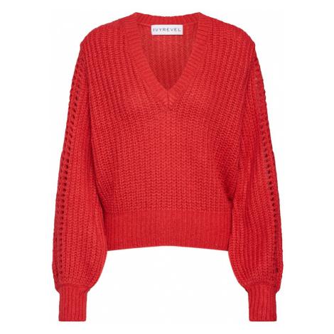 IVYREVEL Sweter 'Pointelle' czerwony