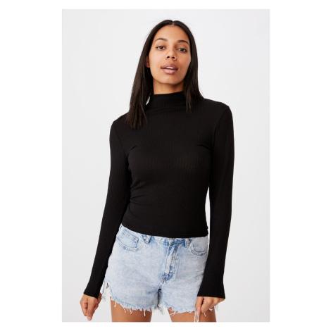 Damska bluzka basic z golfem Mila czarna
