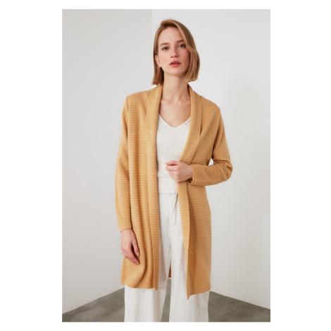 Trendyol Camel Knitwear Cardigan
