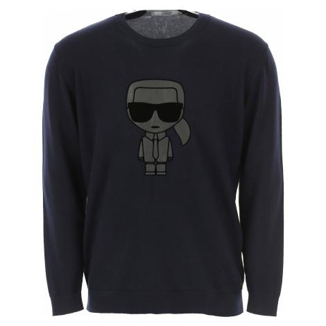 Karl Lagerfeld Sweter dla Mężczyzn, atramentowy, Bawełna, 2019