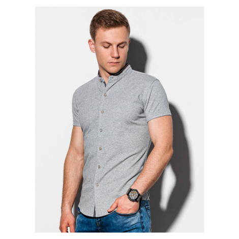 Ombre Clothing Men's shirt with short sleeves K543