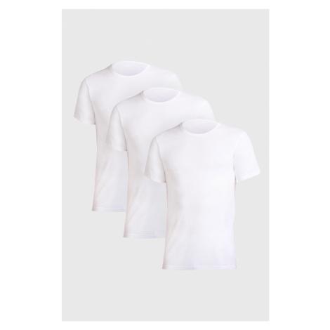 Trójpak białych męskich podkoszulek Uomo Comfort Cotonella