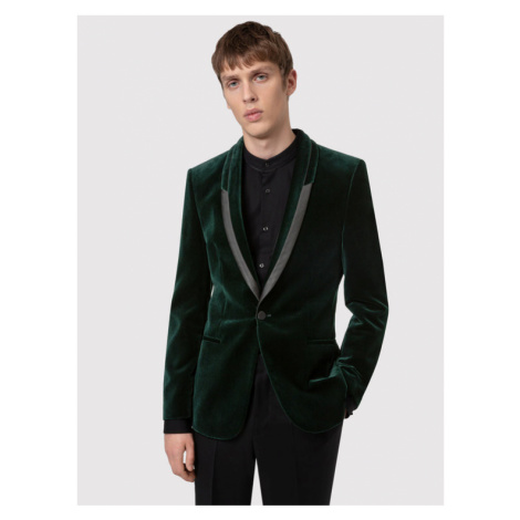 Boss Marynarka Velvet 50439999 Zielony Extra Slim Fit Hugo Boss