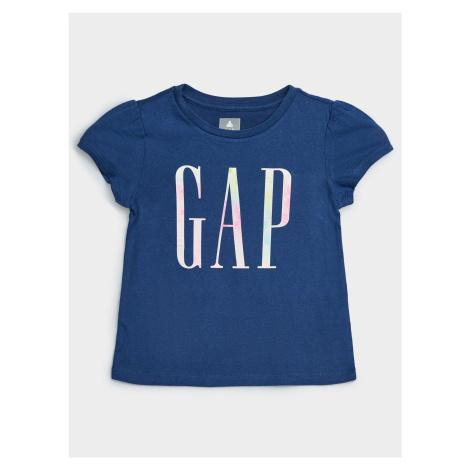 GAP niebieski dziecięca koszulka z logo