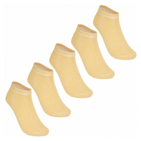 Lee Cooper 5 Pack Invisible Socks Ladies
