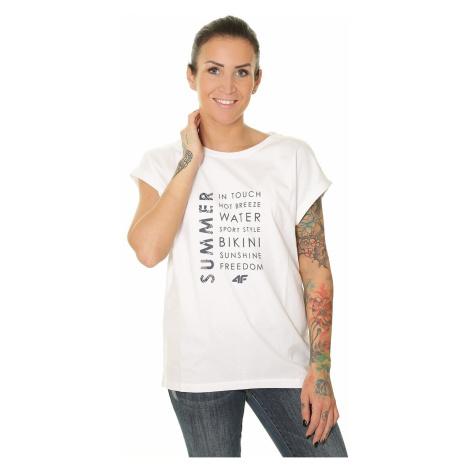 T-shirt 4F H4L19-TSD014 - 10S/White