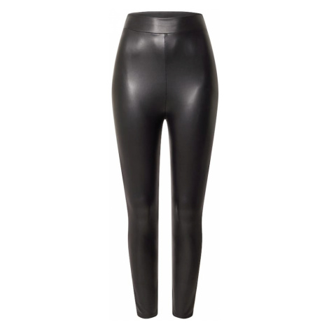 Miss Selfridge Legginsy 'LEATHER LOOK' czarny