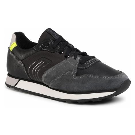 Sneakersy GEOX - U Vittoriale C U04AEC 022FU C9211 Anthracite/Black