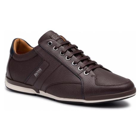 Sneakersy BOSS - Saturn 50417392 10208769 01 Dark Brown 201 Hugo Boss
