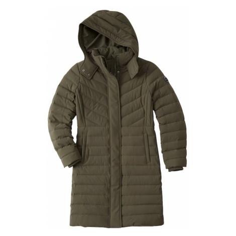 Abercrombie & Fitch Płaszcz zimowy 'XM18-DOWN STRETCH MIDTHIGH' oliwkowy
