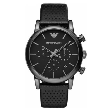 Zegarek EMPORIO ARMANI - Luigi AR1737 Black/Black