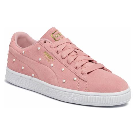 Sneakersy PUMA - Suede Pearl Studs Wn's 369934 02 Bridal Rose-Puma Team Gold