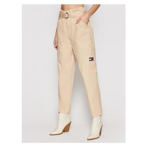 Tommy Jeans Spodnie materiałowe Tjw Paperbag Cargo DW0DW09741 Beżowy Regular Fit Tommy Hilfiger