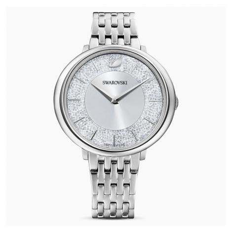 Crystalline Chic Watch, Metal bracelet, Silver tone, Stainless steel Swarovski