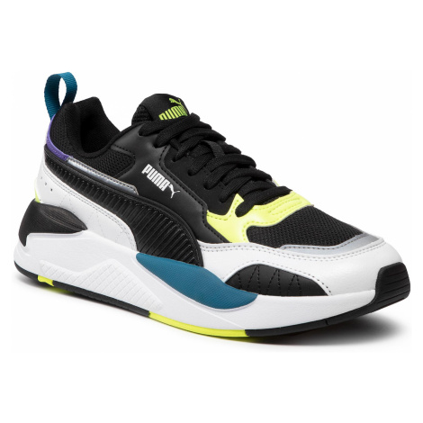 Sneakersy PUMA - X-Ray 2 Square 373108 01 White/Black/F Yellow/D Blue