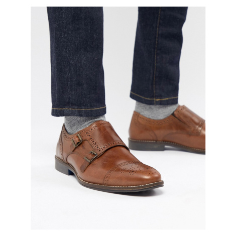 Red Tape Monk Shoes In Tan