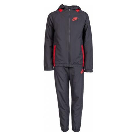 Nike NSW TRK SUIT WINGER W szary S - Dres chłopięcy