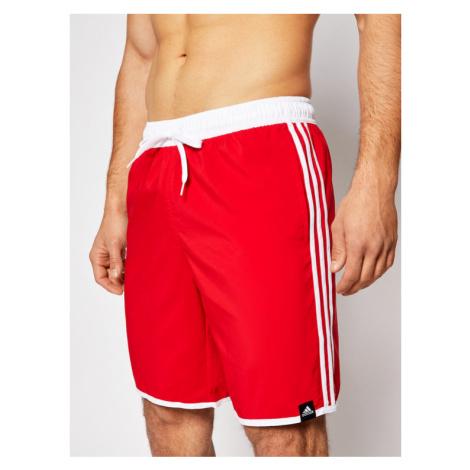 Adidas Szorty kąpielowe Classic Length 3-Stripes GQ1106 Czerwony Regular Fit