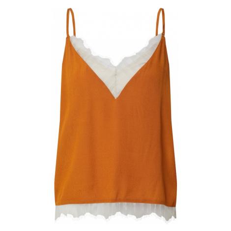 VILA Top 'Colina' biały / pomarańczowy