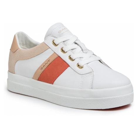 Sneakersy GANT - Avona 20531500 Br.Wht/Br.Coral G285