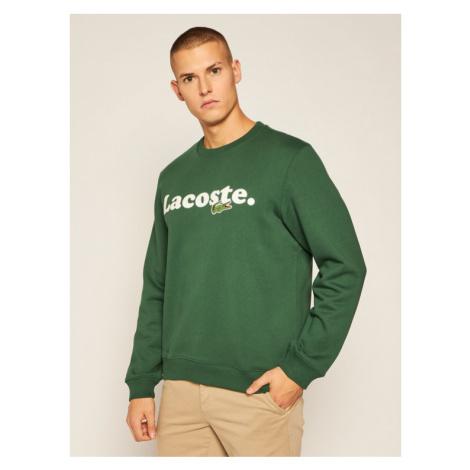 Lacoste Bluza SH2173 Zielony Classic Fit