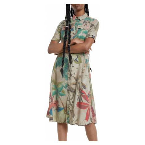 Desigual beżowy sukienka koszulowa Vest Kate