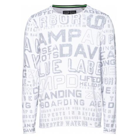 CAMP DAVID Sweter biały / szary