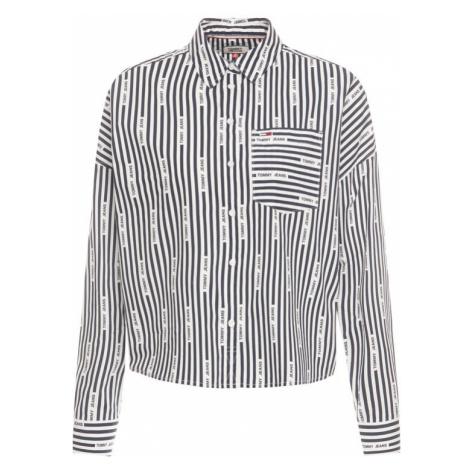 Tommy Jeans Koszula Logo Stripe DW0DW07618 Granatowy Cropped Fit Tommy Hilfiger