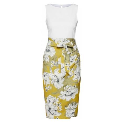 Closet London Sukienka etui limonka / biały