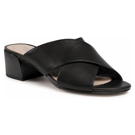 Klapki CLARKS - Caroleigh Erin 261594534 Black Leather