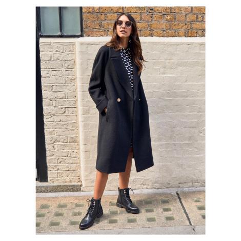 Czarny płaszcz Dorothy Perkins