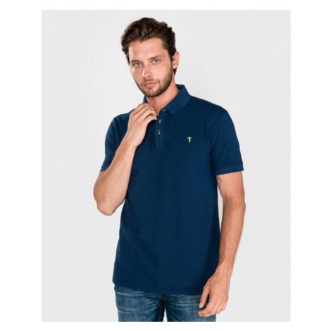 Trussardi Jeans Polo Koszulka Niebieski
