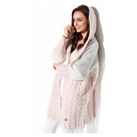 Lemoniade Woman's Sweater LS288 Powder Pink/Light Grey