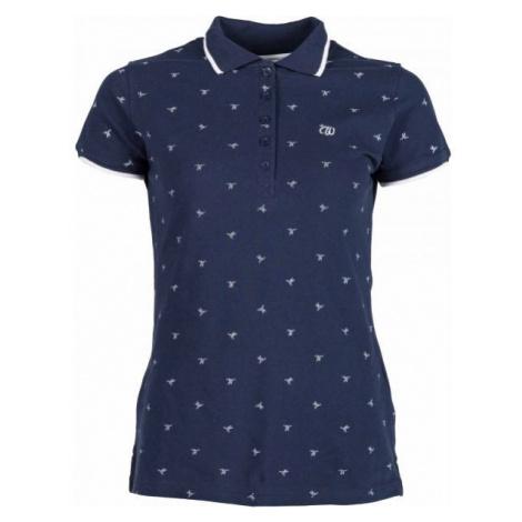Willard MELA niebieski L - Koszulka polo damska